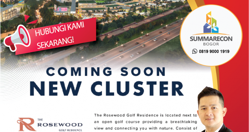 The ROSEWOOD Golf Residence Summarecon Bogor -COMING SOON!